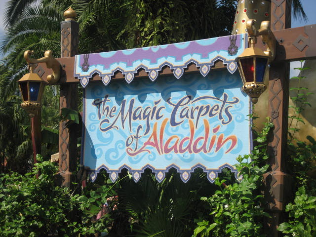 Aladdin Magic Carpet Ride Magic Kingdom Vacation Pictures