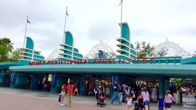 Front Entrance Disney California Adventure Vacation